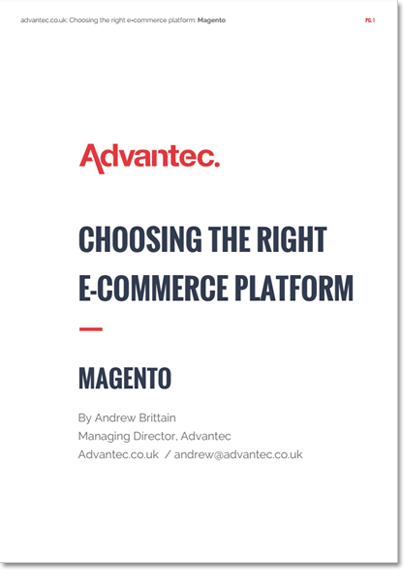 The cover of the Choosing the Right Ecommerce Platform: Magento publication