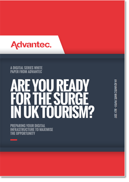 The cover of the Are you ready for the surge in UK tourism? publication